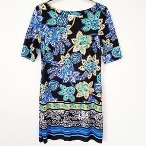Eliza J Paisley Floral Spring Dress
